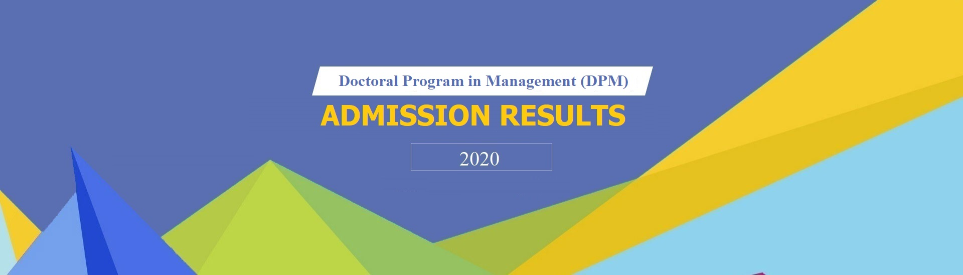 RESULTS-DPM ADMISSION 2020