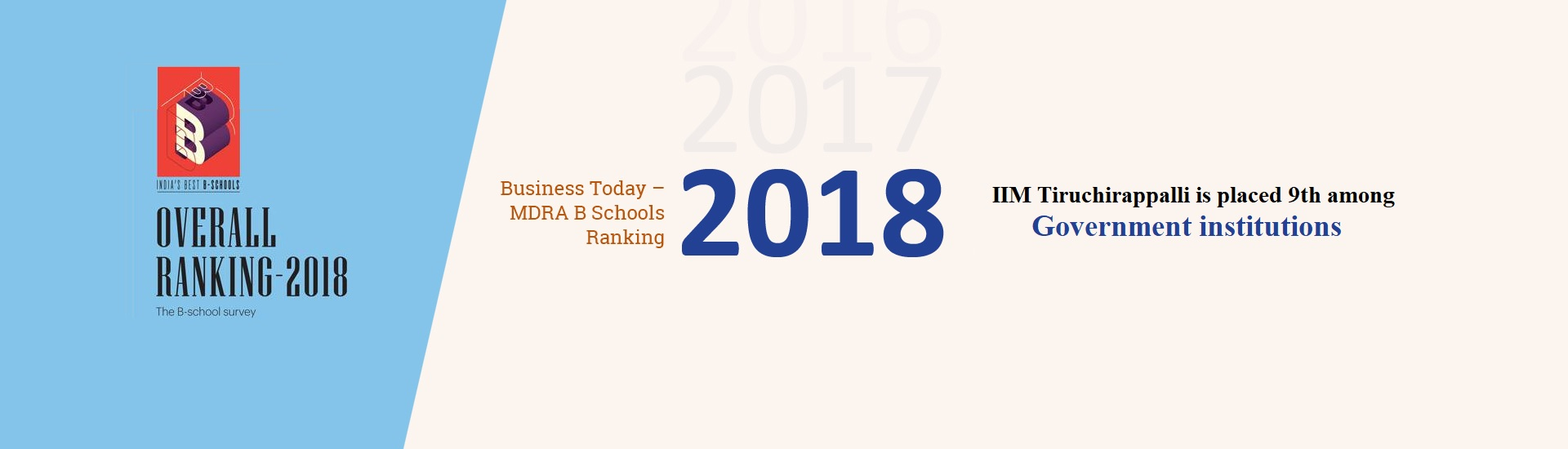 Business Today MDRA B Schools  Ranking 2018