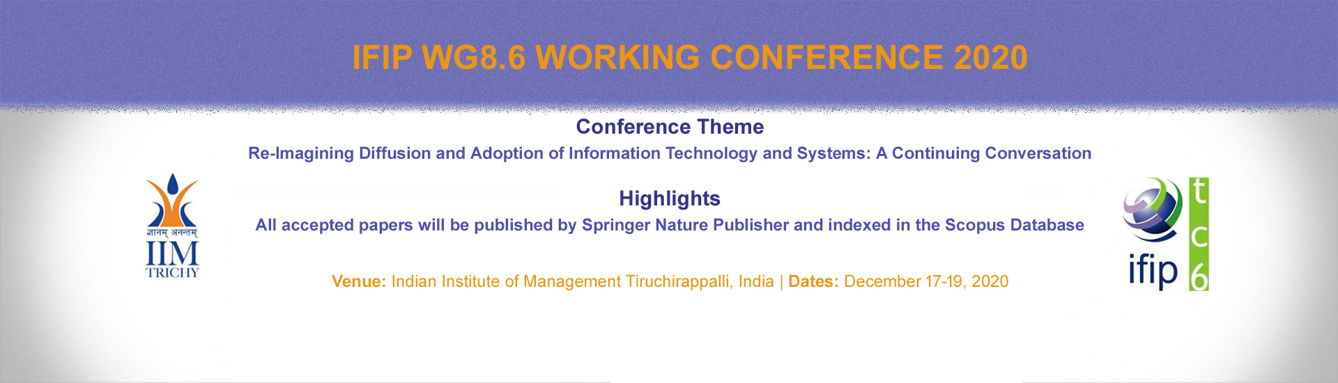 IFIP WG8.6 WORKING CONFERENCE 2020