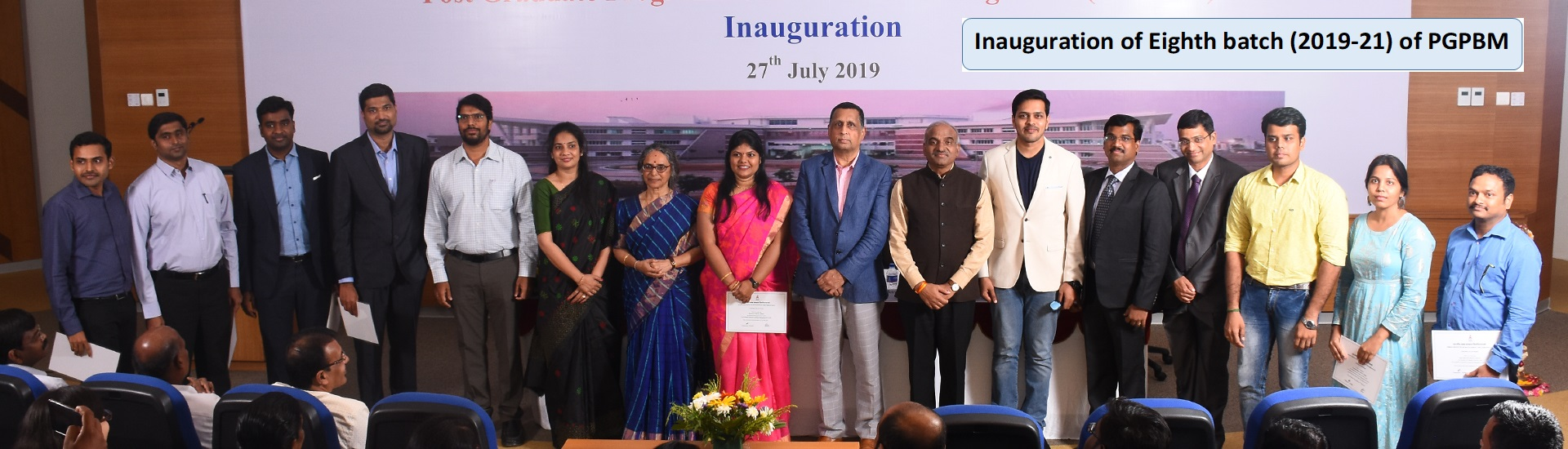 Inauguration of Eighth batch (2019-21) of PGPBM