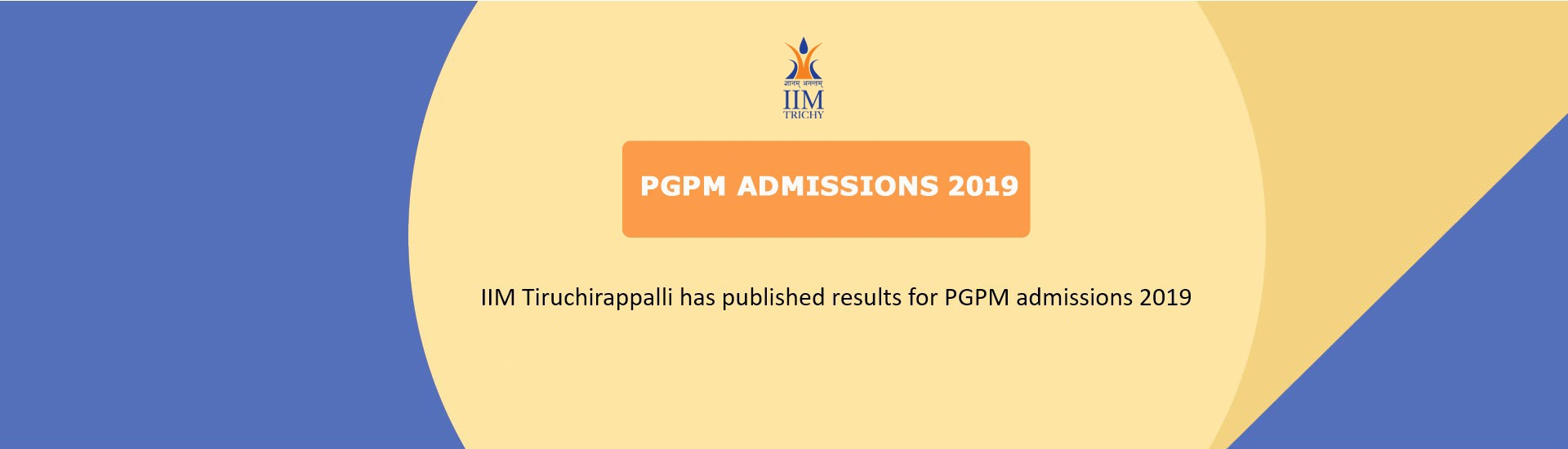 PGPM Admissions 2019